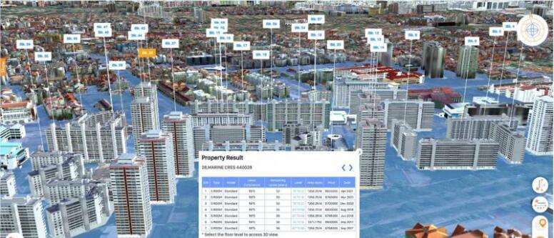 新加坡推出涵盖多项3D地理空间数据的完整版OneMap3D平台