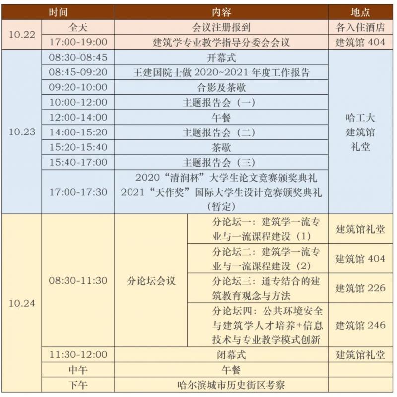 2020-2021全国高等学校建筑教育学术研讨会暨院长系主任大会